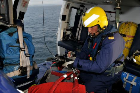 Pesca 2 helicopter crew member